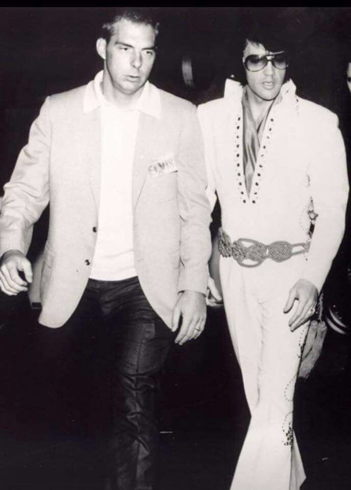 Elvis with Dick Grob who was head of security for Elvis between 1969 - 1977.