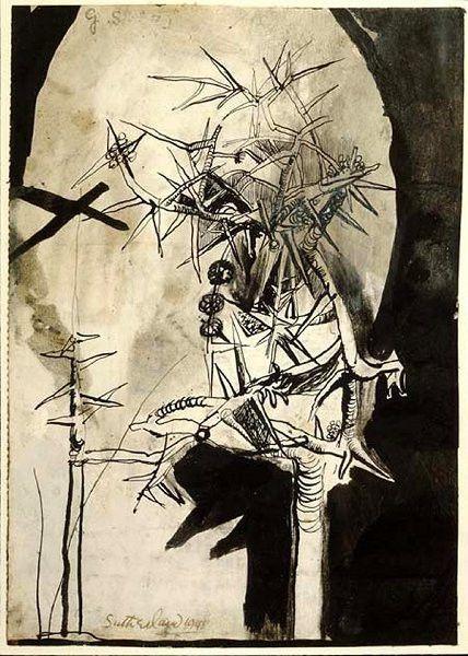 Graham Sutherland - Thorn Tree drawing