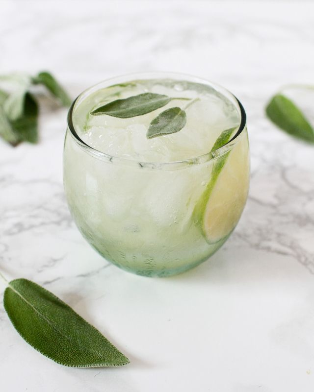 Sage Lime Tequila Smash Cocktail Recipe
