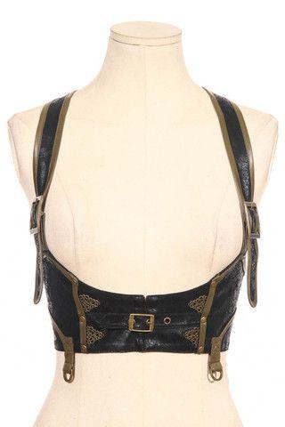 Steampunk Harness Vest. https://www.galleryserpentine.com/collections/accessories-fascinators