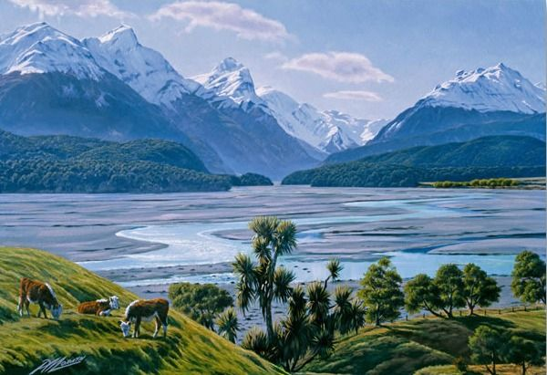 Dart River Canvas Print by Peter Morath for Sale - New Zealand Art Prints