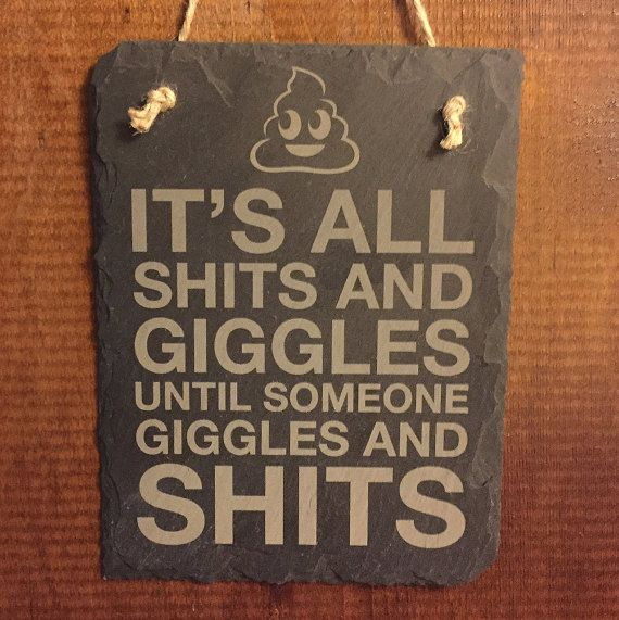 Poo Emoji Slate Sign  Engraved Slate Sign  Hanging by LadyMaggies