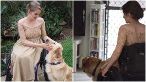 This Teen And Her Service Dog Wore Matching Formal Dresses For The School Dance!