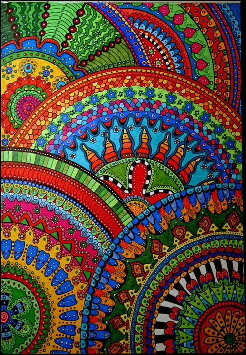 cajunmama:  (via Draw Doodle and Decorate: Circle Mandelas) click for instructions