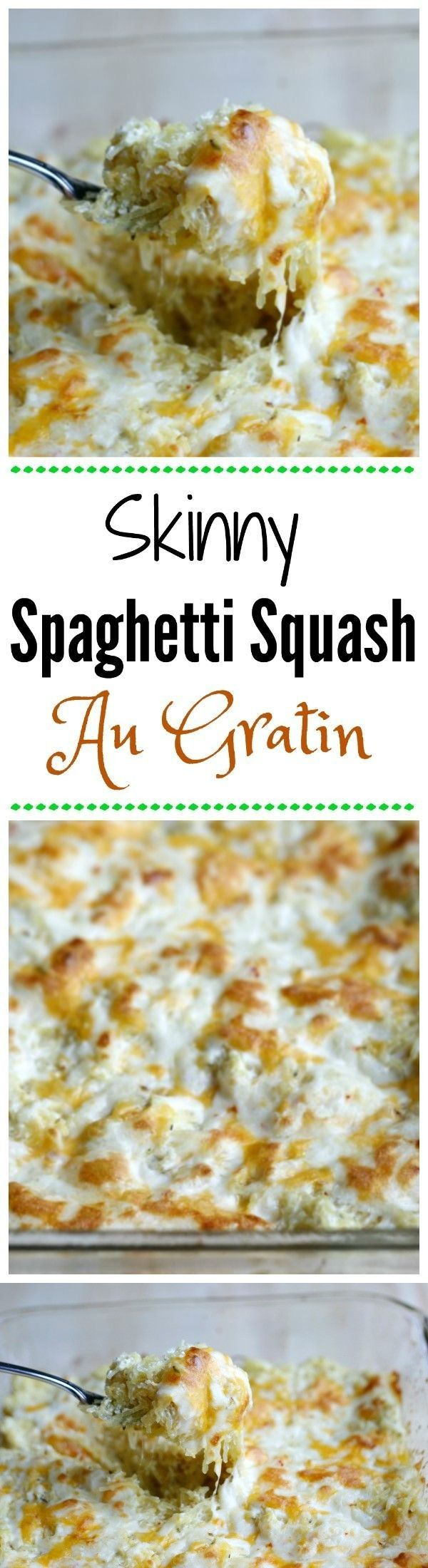 Skinny Spaghetti Squash Au Gratin