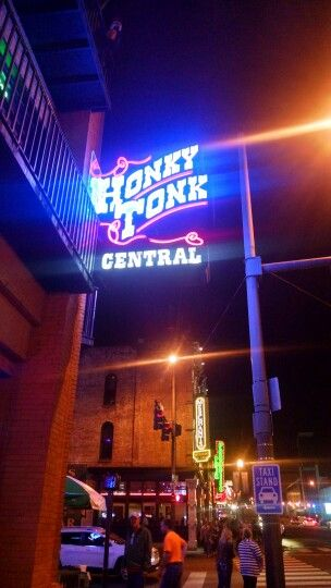 Honky Tonk Central in Nashville, Tennessee