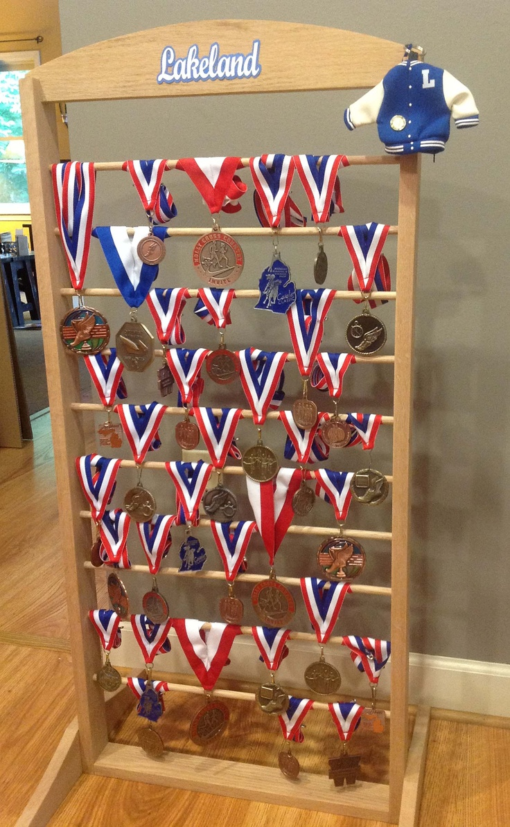 Display for Graduation Party - High School medals