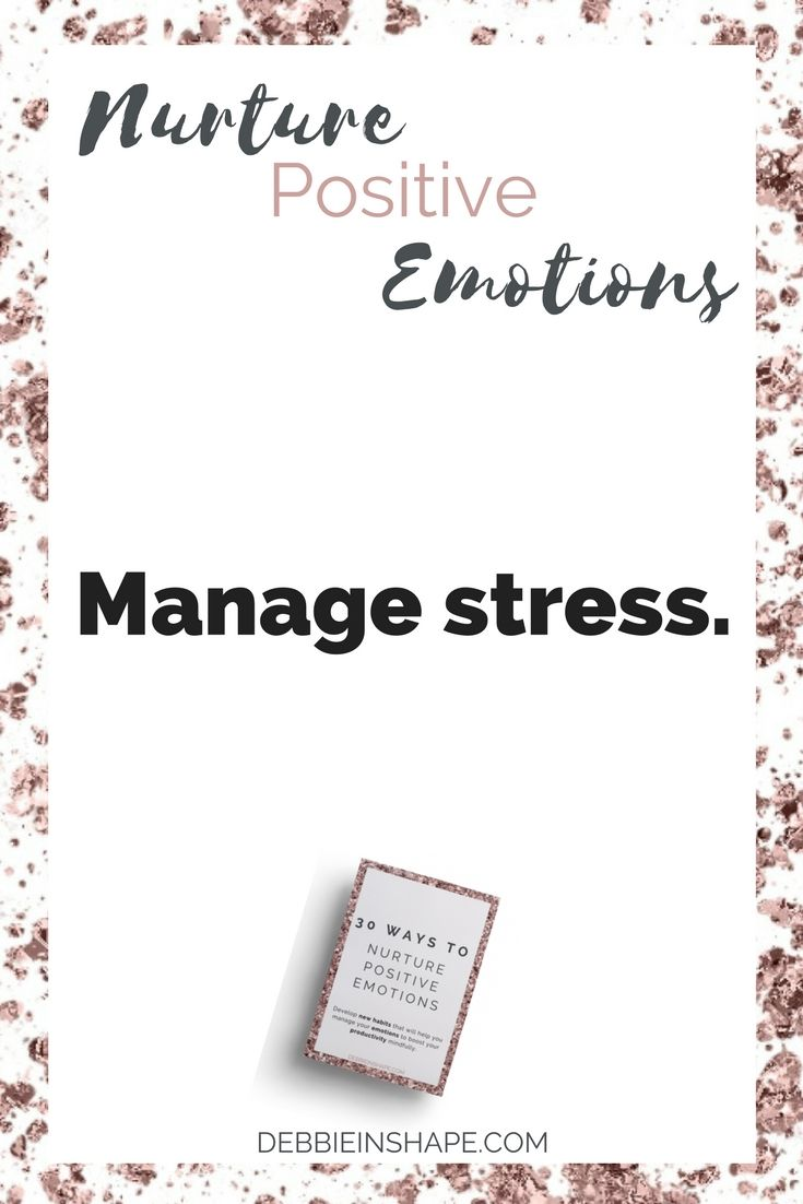 While stress isn't necessarily something bad, experiencing it on a regular basis puts a lot of pressure on your body and mind. Since it isn't the trigger itself that makes or breaks a person, taking care of what's going on between your ears is very important. Learn more about how stress affects you and how to deal with it by downloading my workbook 30 Ways To Nurture Positive Emotions I created exclusively for member of my VIP Tribe.