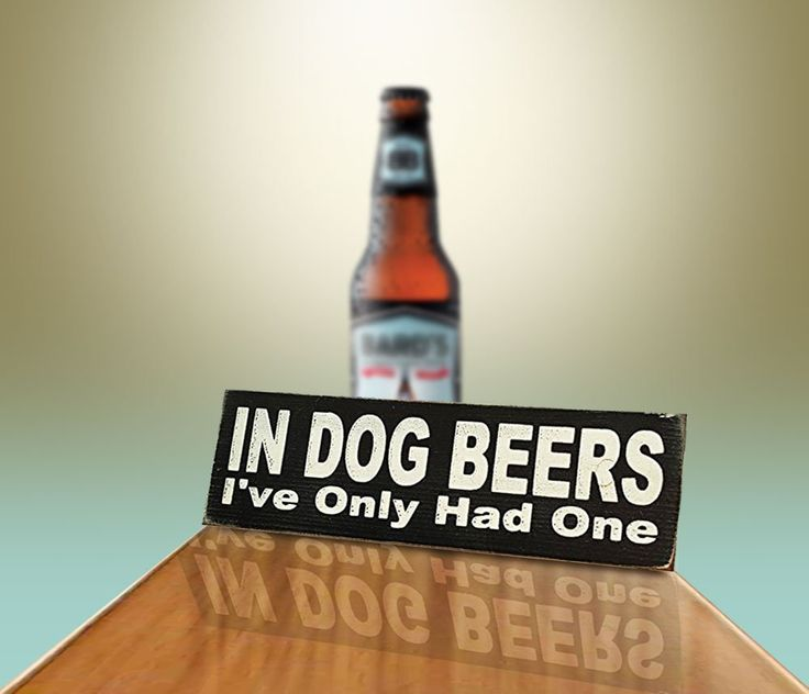 Amazon.com: In Dog Beers I've Only Had One Vintage Wood Sign for Wall Decor, Man Cave, Wet Bar Accessories -- PERFECT GIFT FOR HIM!: Home & Kitchen