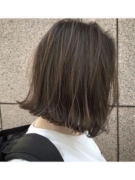 【Lomalia表参道/原宿】切りっぱなしボブ×ハイライトグレージュ