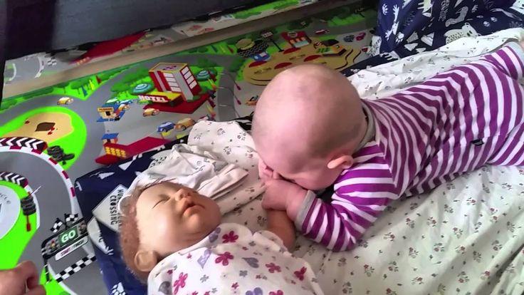 Reborn Doll and 5 month old baby Кукла реборн и 5 месячный ребенок Rebo...