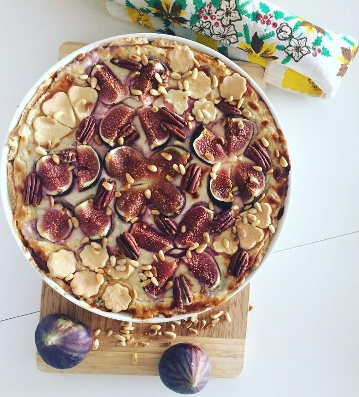 3 cheese tart with figs