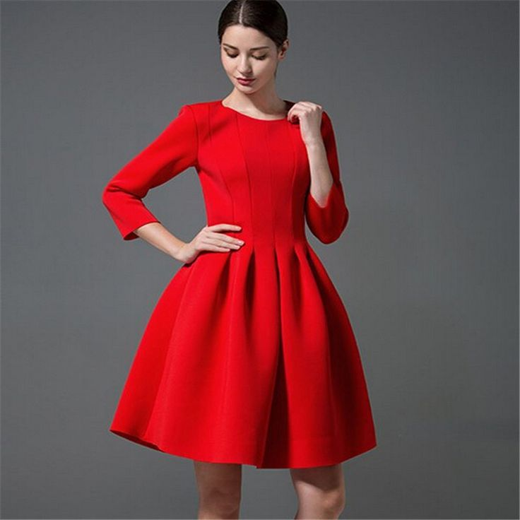 3 4 red dress for sale
