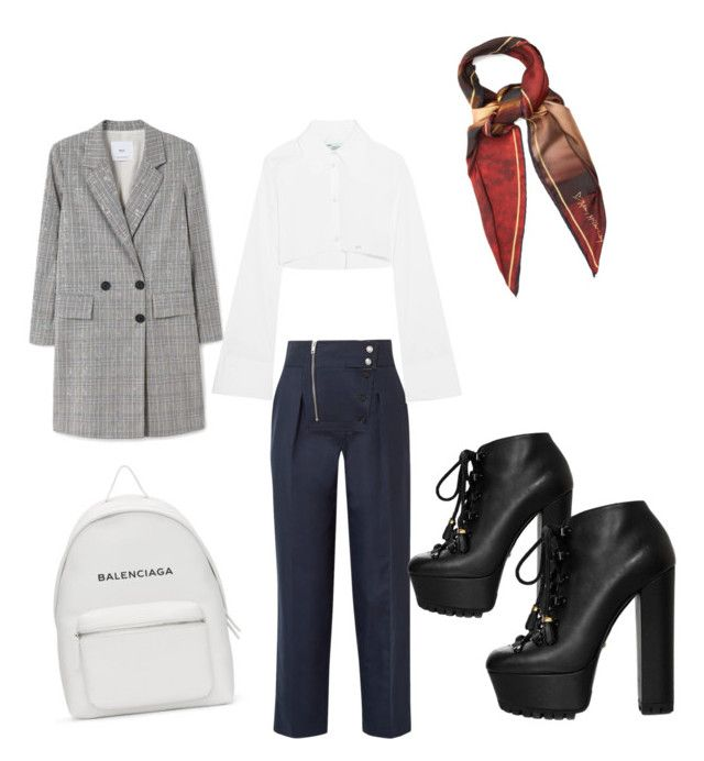 """""""Monday"""" by madisonkiss on Polyvore featuring Calvin Klein 205W39NYC, Off-White, MANGO, Gucci and Balenciaga"""