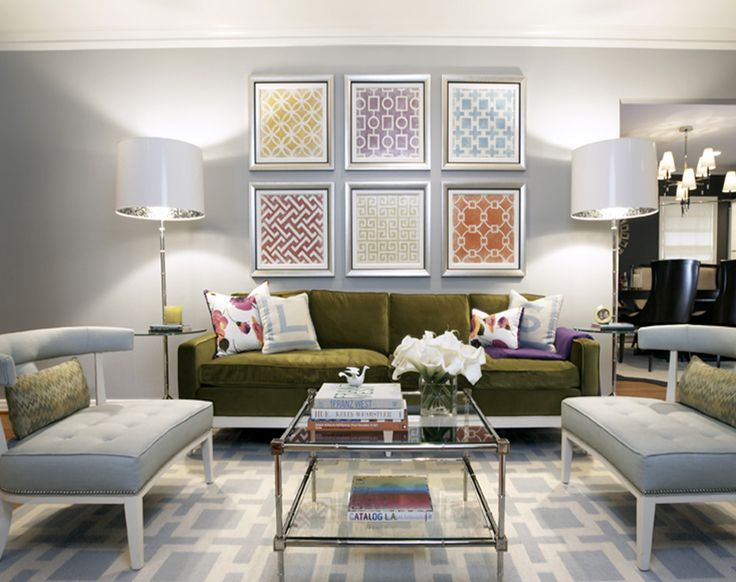 The Gray Walls, Chairs And Rug Bring A Soothing Touch To This Otherwise  Playful Living Room. Part 40