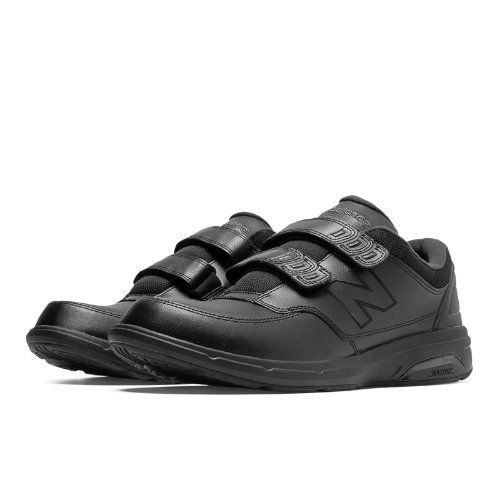 Hook and Loop 813 Men's Health Walking Shoes - Black (MW813HBK)