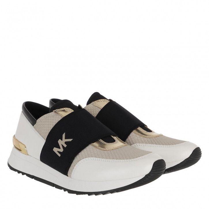 ++++ Keilabsatz Sneaker Sportschuhe Flache Schuhe  Weiss gold