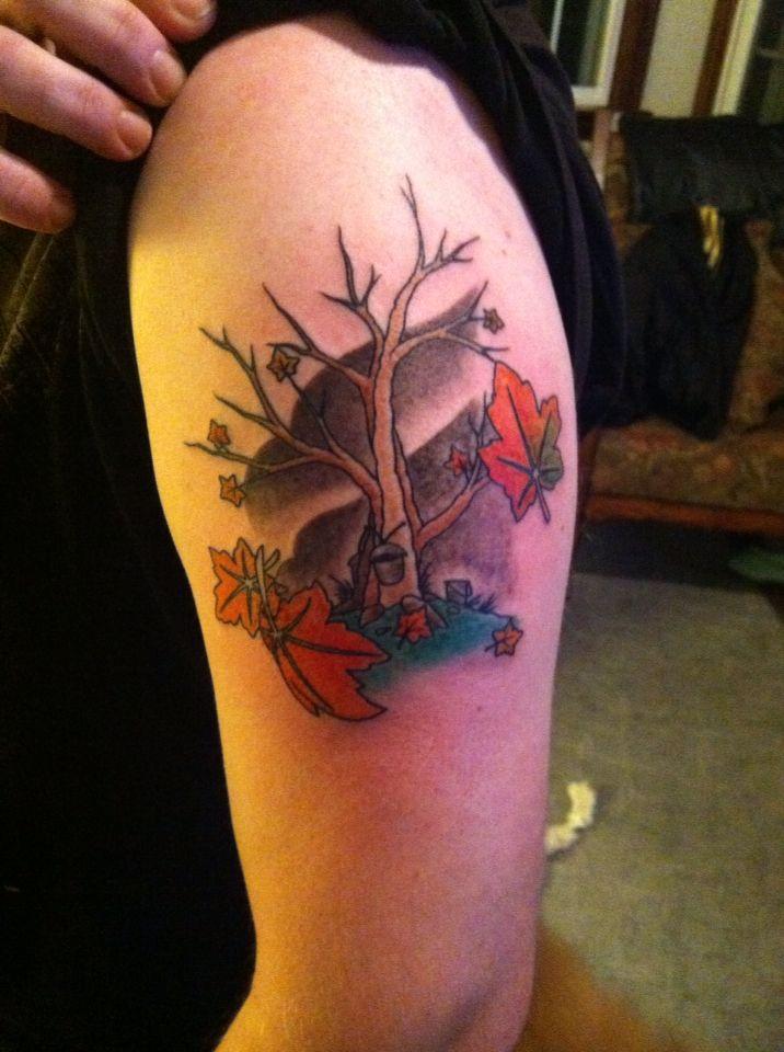 Maple Tree Tattoos: Tattoo: Maple Tree With Sap Buckets
