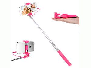 Dealgadgets Selfie Stick with Extendable Supreme Mini All-in-One Wire