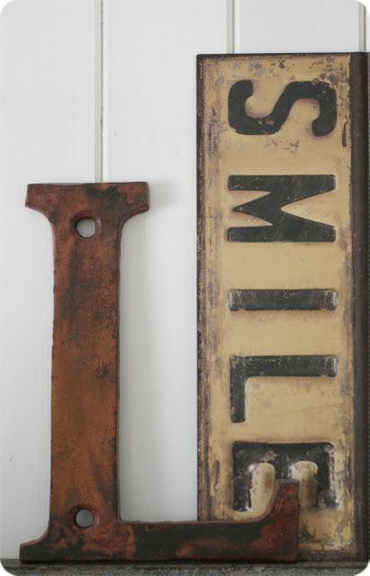 Vintage lettering #smile