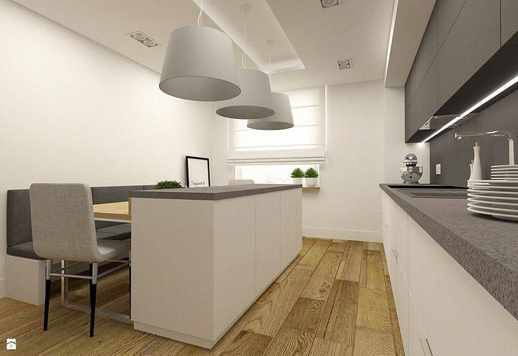 Nowoczesna kuchnia w apartamencie w Tomaszowie Mazowieckim - zdjęcie od design me too - Kuchnia - Styl Nowoczesny - design me too