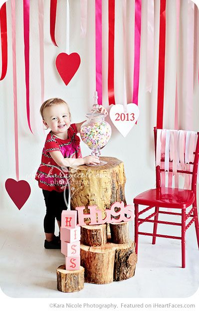 Ribbon Backdrop - Easy DIY Photo Props for Valentine's Day - Compiled by I Heart Faces Photography Blog
