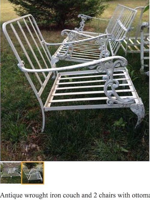 Craigslist Score Vintage Patio Furniture Powder Coating Garden Decor Pinterest And