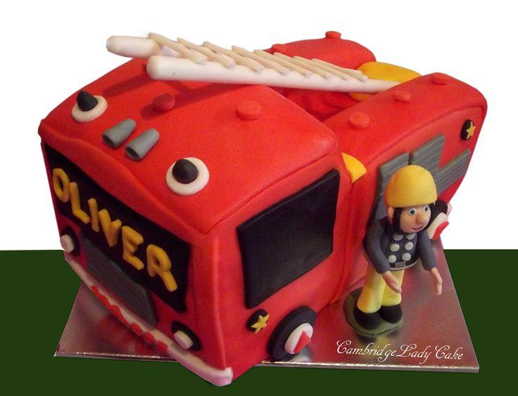 3D Fireman Sam , Truck cake