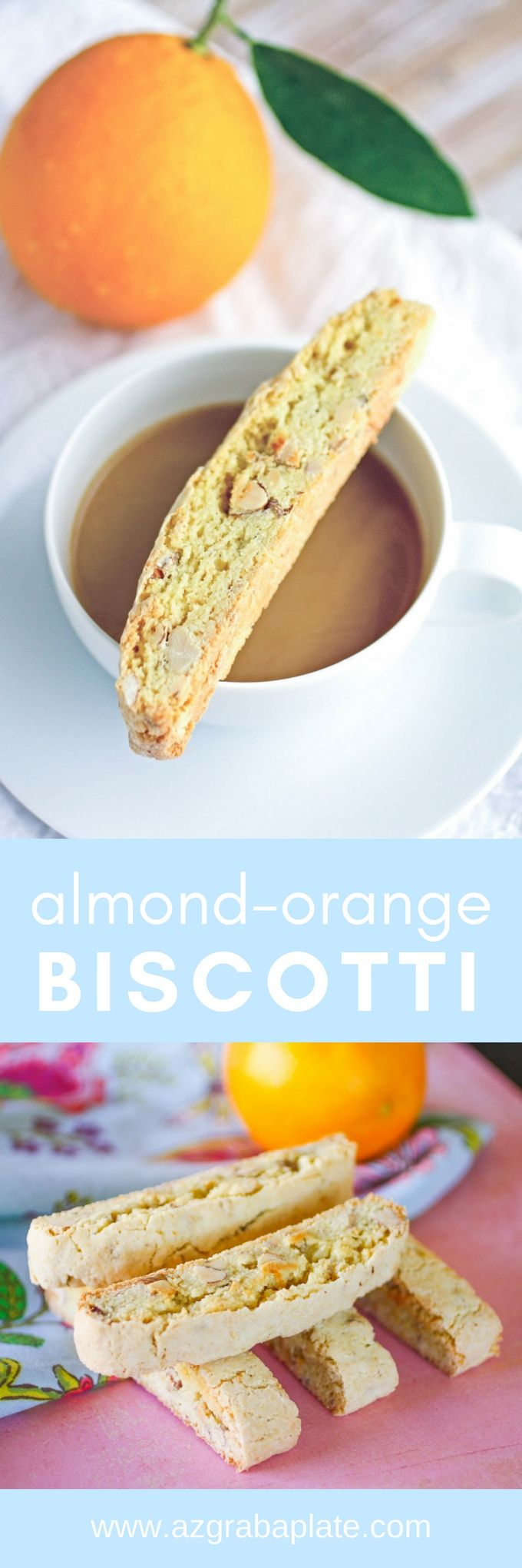 Almond-Orange Biscotti are great, Italian-inspired cookies you'll love for the holidays. These biscotti cookies are amazing -- perfect for dunking, too!