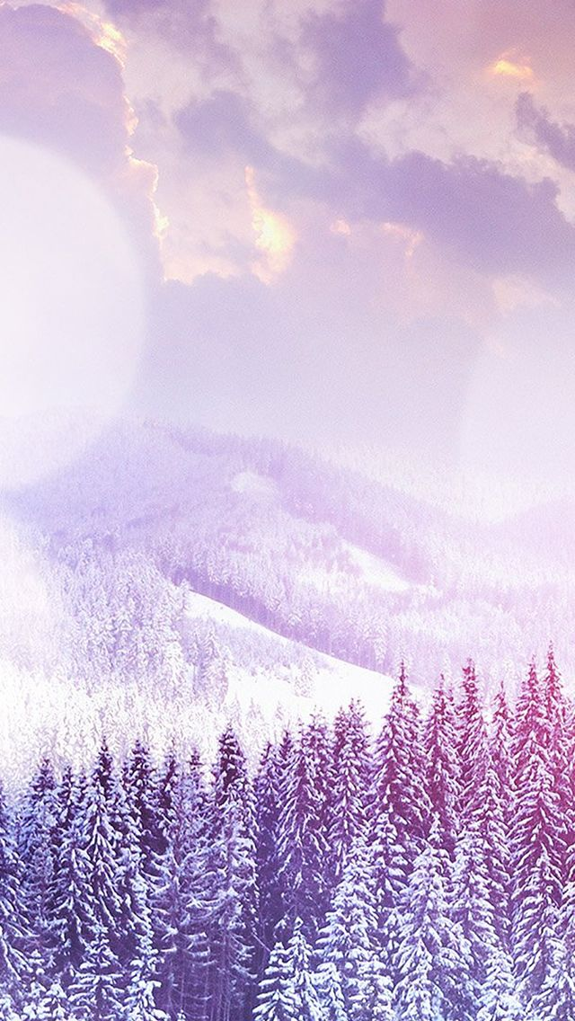 Winter Mountain Snow White Flare Nature iPhone 5s wallpaper #iPhone #5s #wallpaper