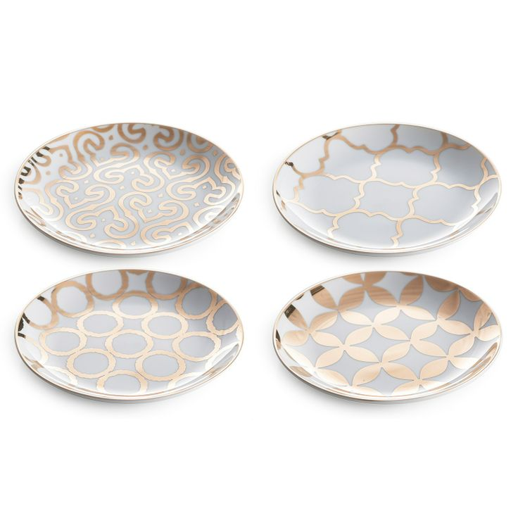 Rosanna Luxe Moderne Appetizer Plates Set of 4