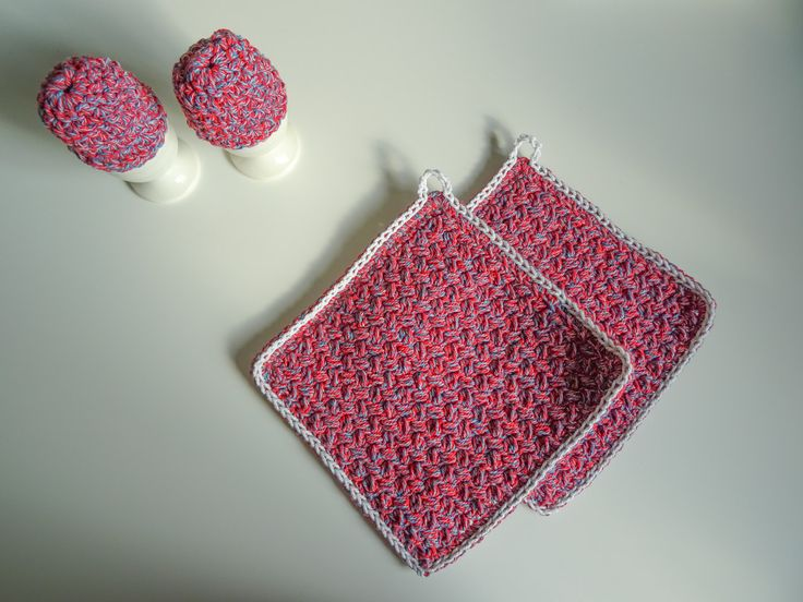 Potholders and Egg Warmers Crochet Pattern    The Potholder and Egg Warmers crochet pattern are a perfect crocheted gift. It's a easy crochet pattern, and also a quick make. They are perfect for any kitchen, with your choice of color it will turn out wonderful. The stitches makes the potholders thick & perfect.    Pattern contains:    ☆ Gauge  ☆ Charts  ☆ Pictures  ☆ Sizing & measurements (inches & metric)  ☆ Instructions  ☆ & a bunch more details!    ★ Also included: Follow up b