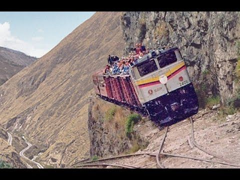 The MOST DANGEROUS and EXTREME RAILWAYS in the World!! Compilation of In...