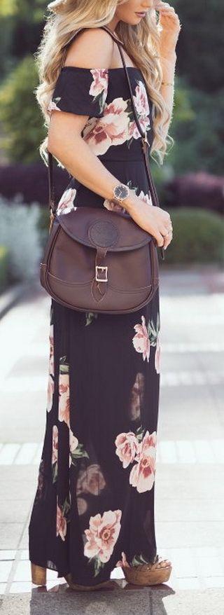 #summer #fashion / floral print maxi dress