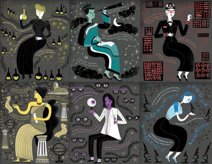 Seis de las 50 mujeres en Women in Science: 50 Fearless Pioneers Who Changed the World .