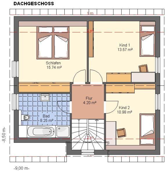 einfamilienhaus garten einrichtung weiße möbel