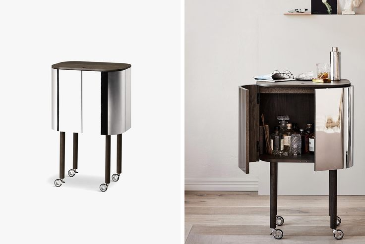 We're Totally Obsessing Over This Minimal Scandinavian Bar Cart • Gear Patrol