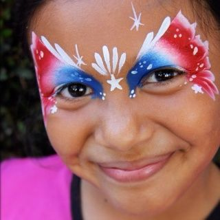 fourth of july face painting | July 4th fancy mask