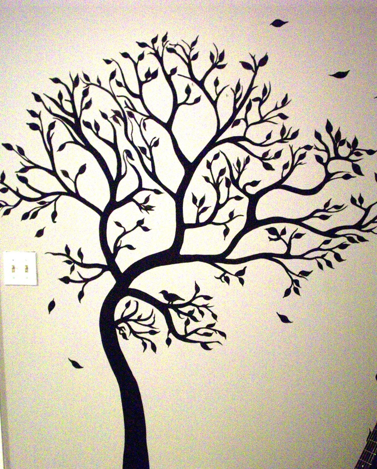 Mural tree she painted