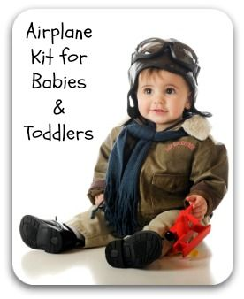 Airplane kit for babies and toddlers to ensure a happy flight for you, your child, and your fellow passengers. Great for road trips and train travel too!