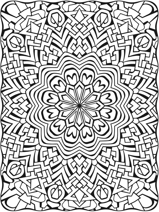 Creative Haven Dimensions Coloring Book By: John Wik, Creative Haven -  COLORING PAGE 4 Dover Publications