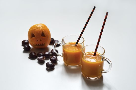 Smoothie Orange-Potiron spécial Halloween
