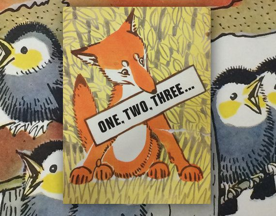 """A. Laptev """"One, Two, Three"""", Drawings by The Author. (In English). 8''x10'', Paperback, 10 Pages, 17 Illustrations — 1976. Good cond., cover 8/10"""