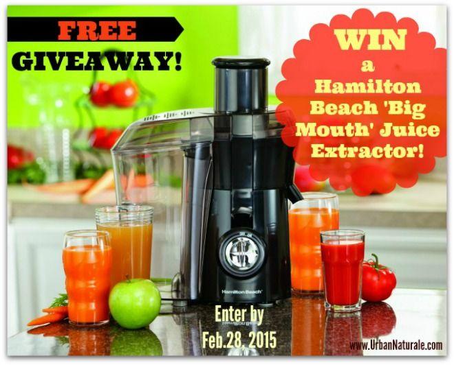 Kick Start a Healthy 2015! Enter to Win a Hamilton Beach 'Big Mouth' Juice Extractor