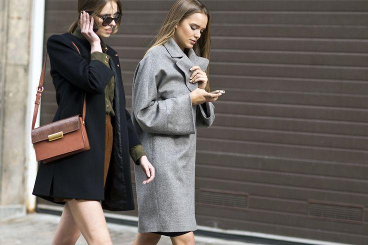 It's time to pick the perfect coat: black CYMI or grey LUDMILA! #lamania #streetstyle #photo Asia Typek