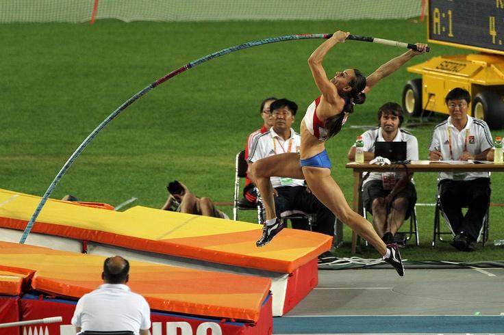 Yelena Isinbayeva...holds World Record in Pole Vault!!!! :D