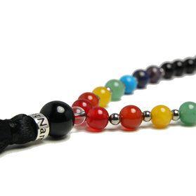 Vacker Chakra - mala halsband. Med hjälp av stenars kraft kan du balansera dina chakran. #agat #mala #turkos #lapislazuli #ametist #jade #karneol #aventurin #yogasmycken #mykarma #satnamyogajewelry
