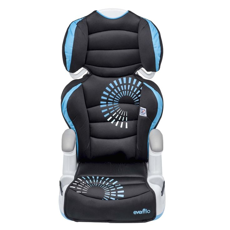 Evenflo Big Kid AMP Booster Car Seat  Suitable for Weight Range: 30 - 110lbs  Available Colors: sprocket, carrissa, blue angles and green angles   http://babyessentials101.com/top-ten-sellers-booster-car-seats-2015/   #toptenboostercarseats