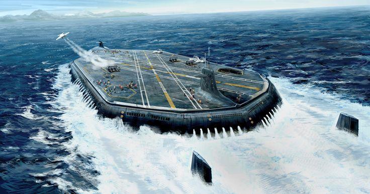 Submarine aircraft carrier.