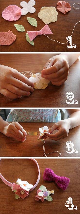 Little Girls' DIY Hair Bows. Adorable hair bows. Baby girl accessories